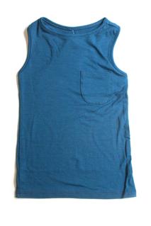 Linne med ficka, mörkblå