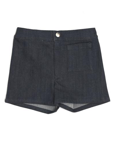 Shorts, denim mörk