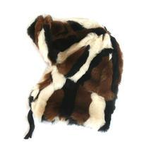 Fur Cap (fake) Brown/Black/White