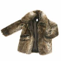 Fur Coat (fake), Grey/Brown
