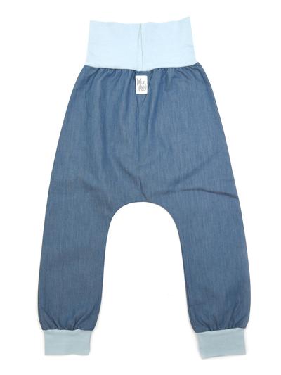 Mjukisbyxor Harem, denim ljus/blå mudd 5-6 år