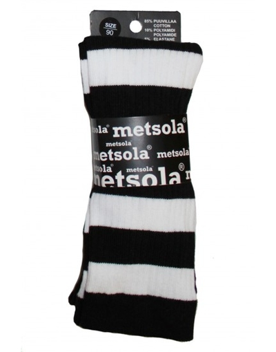 Leggings Metsola, svart/vit randiga 0-6 mån