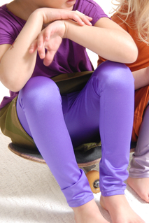 Leggings Glam, violett 6-12  mån