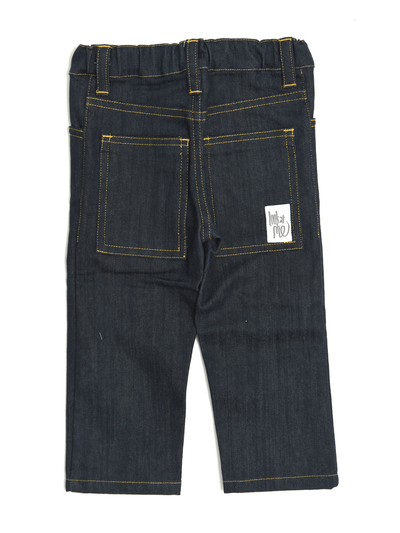 Byxor Slim fit 5 pocket, denim mörkblå
