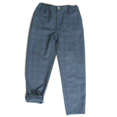 Chinos, Blue Checkered