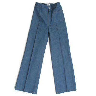 Trousers Flare, Light Blue Denim