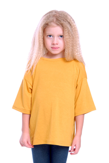 T-shirt vid, senapsgul