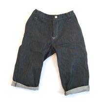 Chinos shorts, Dark blue denim