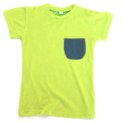 T-shirt med ficka, lime
